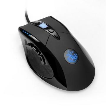 Anker® 8200 DPI High Precision Laser Gaming Maus Game Mouse, USB verkabelt, mit 12000 FPS, 9 konfigurierbare Tasten, 8 Teiliges Gewichtssystem, Omron Mikroschalter - 1